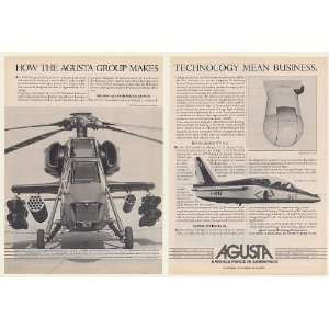 1984 Agusta A129 Mongoose Military Helicopter 2 Page Print