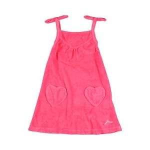 Juicy Couture Pink Splash Sundress w/ Heart Pockets (Size