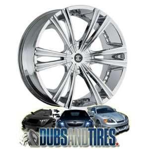 22 Inch 22x9.5 2 Crave wheels No.12 Chrome wheels rims