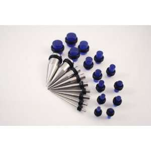 Taper/Plug Kit   Includes 9 Pc Stainless Steel Ear Tapers 14G