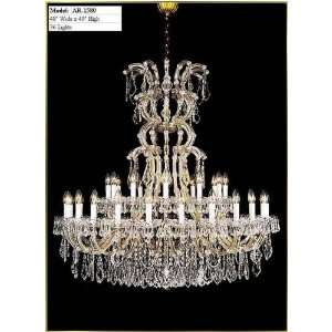 Waria Theresa Chandelier, AR 1580, 36 lights, Gold, 48
