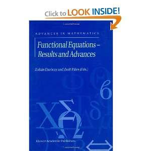 Functional Equations   Results and Advances (ADVANCES IN