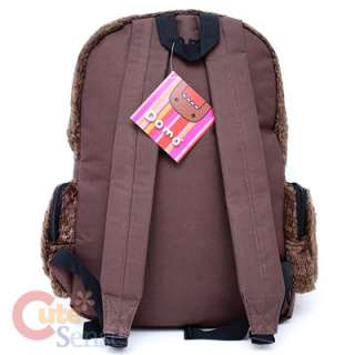 Domo Kun Plush School Backpack Large Bag 16  Licensed