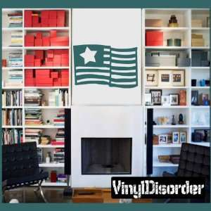 American Flag Star Patriotic Vinyl Wall Decal Sticker Mural Quotes