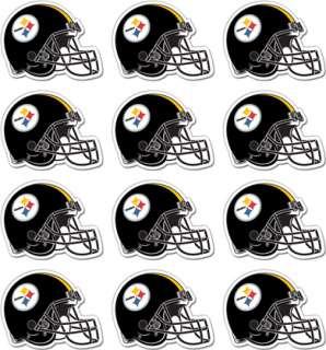 Sheet of 12 Pittsburgh Steelers NFL Decals Sticker