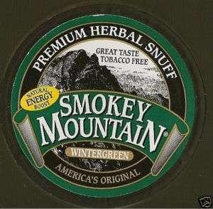 Smokey Mountain Tobacco Free Chew WINTERGREEN