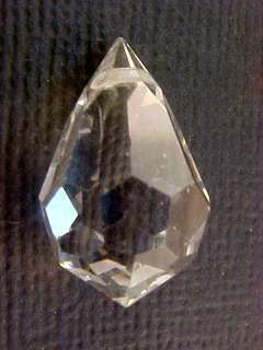 VTG 10 INCREDIBLE FACETED CLEAR SWAROVSKI DROPS HUGE GORGEOUS NEW OLD