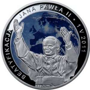 POLAND 20 ZLOTY PROOF SILVER COIN JPII 2011
