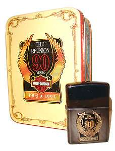 Zippo Lighter Harley Davidson The Reunion 90th Anniversary   Collector