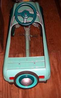 Vintage 1949 Buick Pedal Car Restored Teal Light Blue RARE Metal w