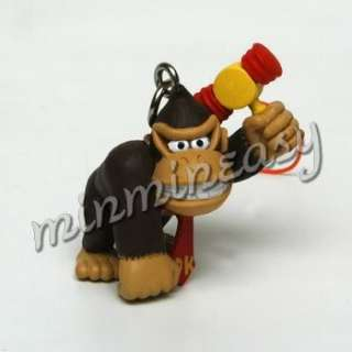 7p Nintendo Super Mario Figure Keychain Charm Toy Ring