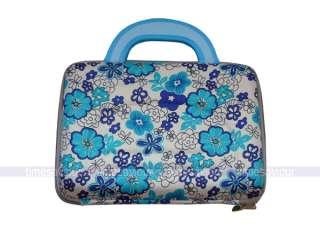 Blue Flower Print Laptop Hard Case for 10 Netbook