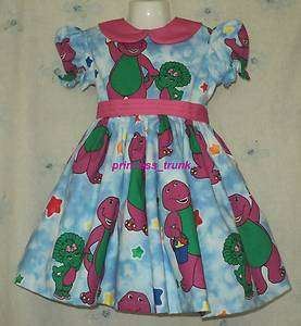_trunk VHTF Barney w/Baby Bop Dress Deluxe Custom Sz 12M 10Yrs