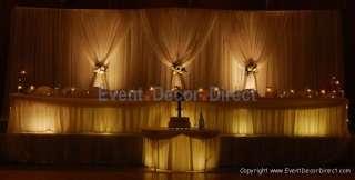 Wedding Backdrop Kit w/Pipe, Drape & Valence: 3 PANEL 8 14ft TALL