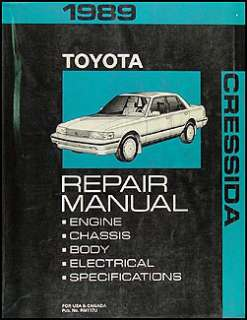 1989 Toyota Cressida Original Shop Manual 89 OEM Repair Service Book