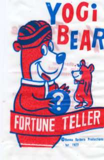 Yogi Bear Huckleberry Hound Magic Fortune Toys 1977