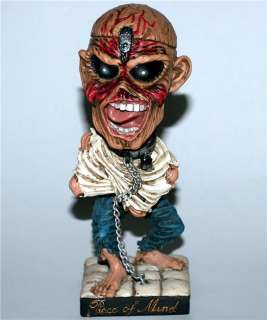 IRON MAIDEN Heavy Metal EDDIE Piece of Mind BOBBLEHEAD