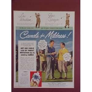Gene Sarazan & Lew Worsham Golf Champions 1948 Camel
