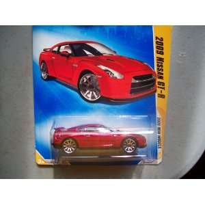 Hot Wheels 2009 New Models Red 2009 Nissan GT R 1:64 Scale