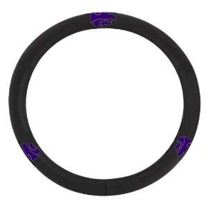 911 Kansas State Collegiate Leather Steering Wheel Cover Automotive