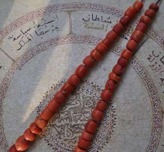 Antique Yemeni genuine red coral beads Necklace Strand