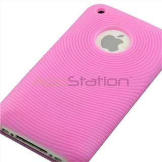 Pink Case+Car+Wall Charger for iPhone 3G S 8/16/32 GB
