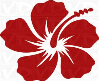 Hibiscus Flower Style 1 Vinyl Decal Sticker Hawaiian