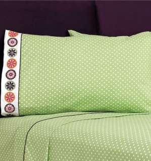Green Flowers Girls Comforter Sheets Bedding Set Full