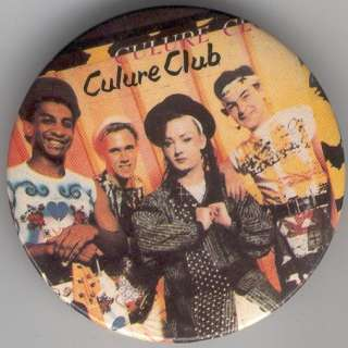 CULTURE CLUB BOY GEORGE 3 1984 Buttons Pins British VG