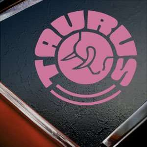 TAURUS FIREARMS GUN Pink Decal Car Truck Window Pink