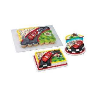 Disney Pixar Cars McQueen Race Scene Cake Topper Set