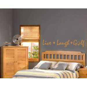 Live Laugh Golf Sports Vinyl Wall Decal Sticker Mural Quotes Words