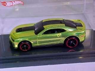 2011 Hot Wheels Sema Camaro concept in candy green Free ship USA RLC