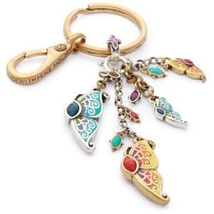 Lucky Brand Indian Canyon Silver And Gold Tone Butterfly Charm Key