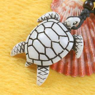 12pcs turtle Tibetan Imitate Yak Bone Pendant Necklace C752