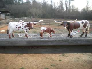 TEXAS LONGHORN COW FAMILY by Schleich;toy/bull/NEW 2011
