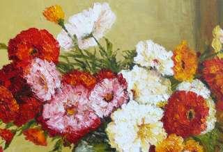 Virbickiene art original oil painting FLOWERS