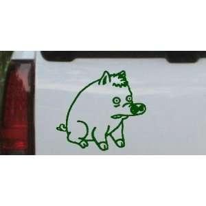Dark Green 14in X 12.5in    Spider Pig Cartoons Car Window Wall Laptop