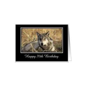 American Indian Wolf Birthday card 70th Birthday photo