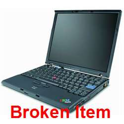 IBM ThinkPad X60 Core Duo 1.66GHz BROKEN   FOR PARTS