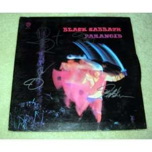 BLACK SABBATH autographed PARANOID Record