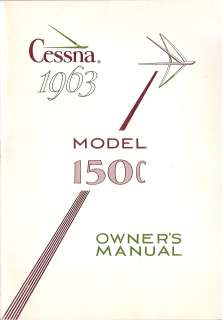 1963 Cessna 150 Owners Manual in PDF format on CdRom