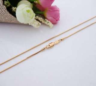 24K Gold Plated Long SNAKE CHAIN Necklace Jewelry 80cm