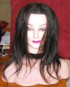 Mannequin Head100%Real Human Hair +shoulder 2 part