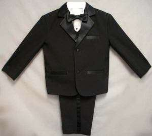 Infant Toddler Boys Black Tuxedo S M L XL 2T 3T 4T
