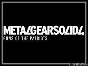 Metal Gear Solid 4 Logo Game Die Cut Decal Sticker (2x)