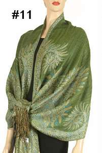 Cashmere Silk Wool Pashmina Scarf Shawl Wrap Cape 018s1