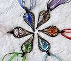 wholesale lots 4pcs heart helix lampwork murano glass pendant necklace