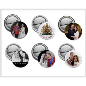 Prince William Kate Middleton Royal Wedding 6 Pack of 1