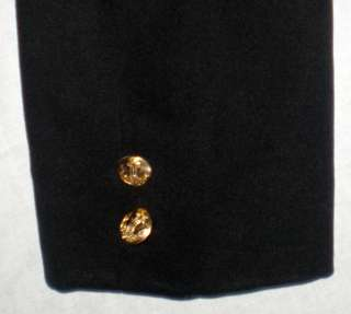 Vintage Russian Soviet Navy Officer Uniform Naval Black Jacket Tie